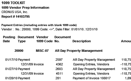 Microsoft Dynamics NAV 1099 Year End Processing Toolkit
